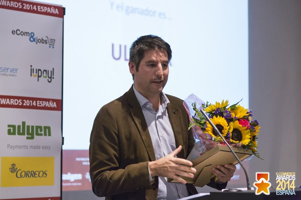 Sharif Penniman recoge el premio de Ulabox en los EcomAwards 2014