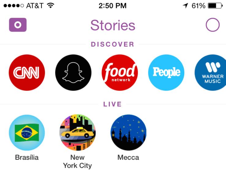 Así es como la función Stories de Snapchat tiene un rediseño.