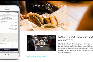 Uber añade nuevas opciones a Uber Eats, su servicio de entrega de comida