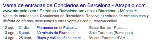 Rich Snippets eventos