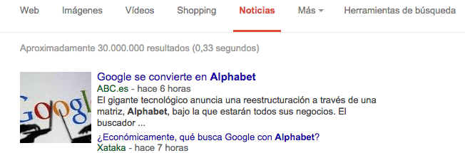 Rich Snippets noticia