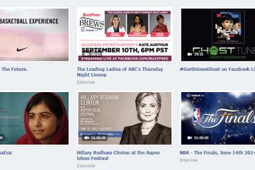 Cambios en Facebook Live también estará disponible para más que celebridades
