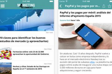 información sobre ecommerce: Marketing 4ecommerce app