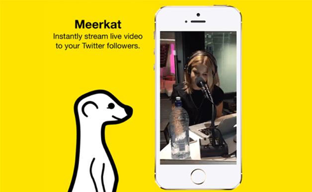 La app de video streaming Meerkat hace temblar a Twitter