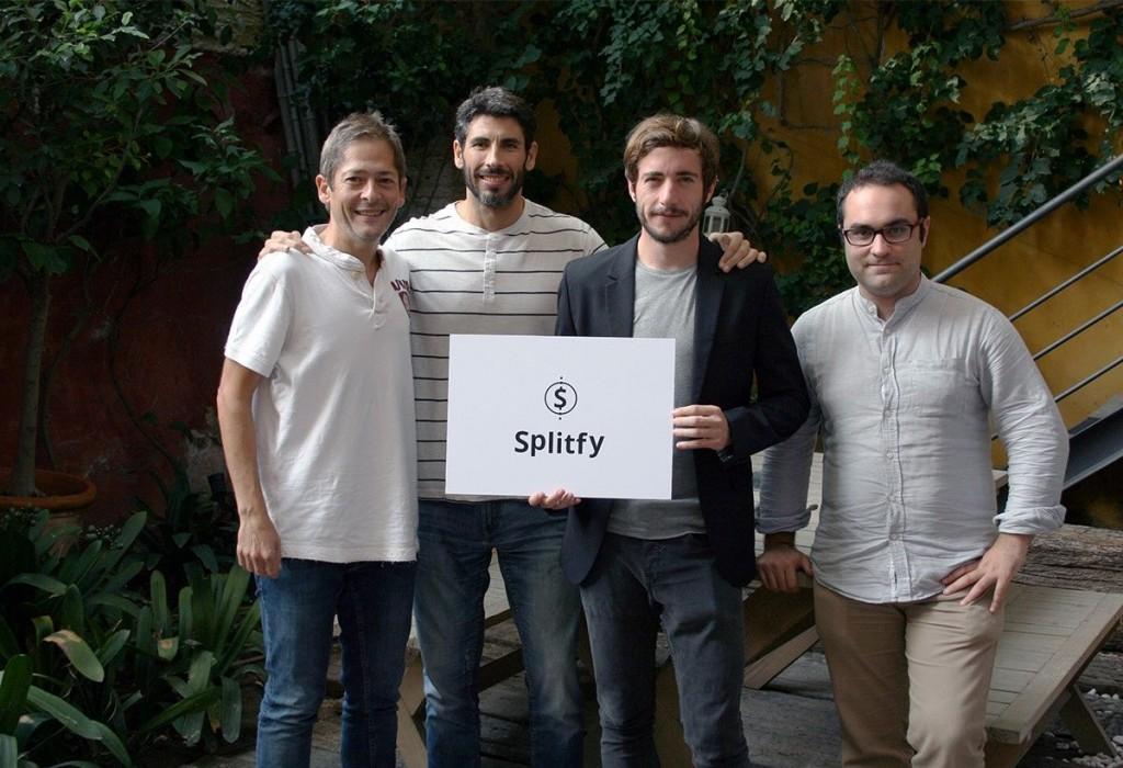 Fundadores de la startup Splitfy: José López (COO), Jose Antonio Navarro (CTO), Miguel Milián (CEO) y Carlos Moya (CPO).