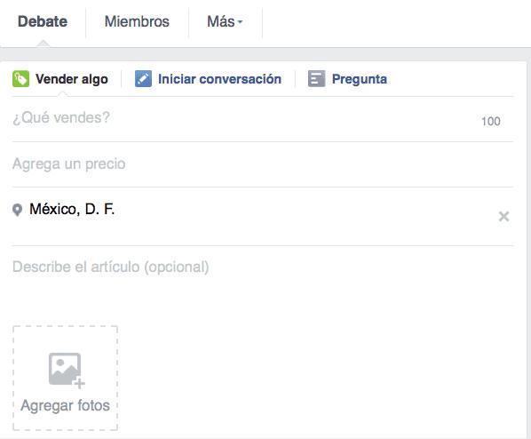 Ejemplo de la visualización de nuevas herramientas en los Facebook Groups.