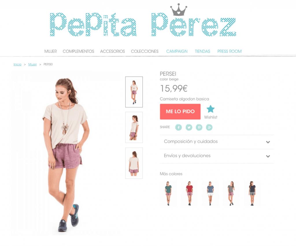 Tienda online Pepita Perez