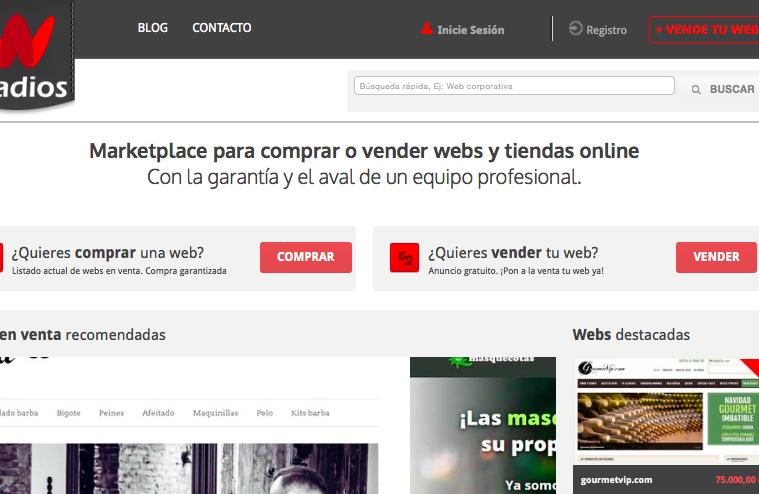Wadios: el marketplace para vender dominios y sitios web
