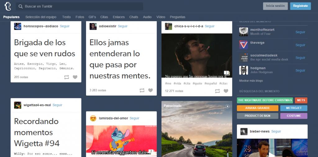 Nuevas redes sociales: Tumblr