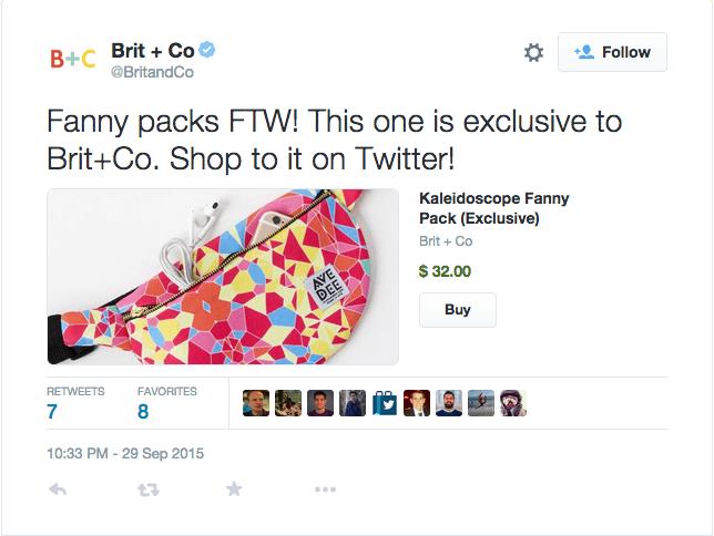 Así queda el botón Buy Now de Twitter