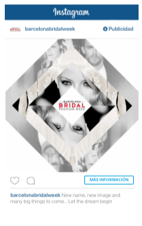 barcelona bridal fashion week instagram ads