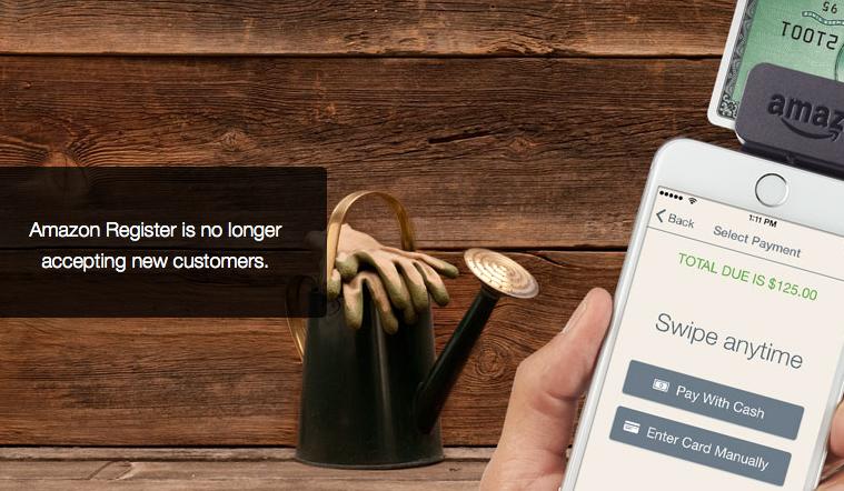 El lector de tarjetas Amazon Register será retirado en febrero 2016