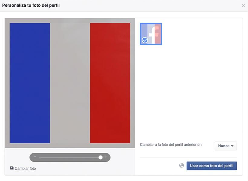 Tragedia en París - Facebook - Imagen perfil bandera