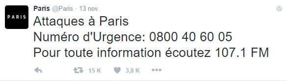 Tragedia en París - Twitter - Ayto. París 2