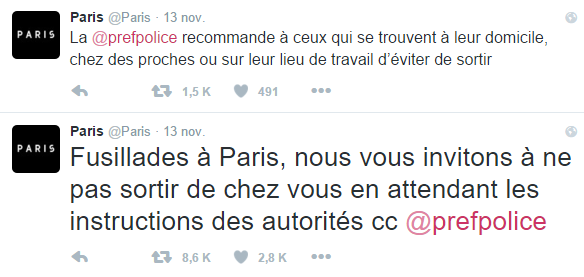 Tragedia en París - Twitter - Ayto. París