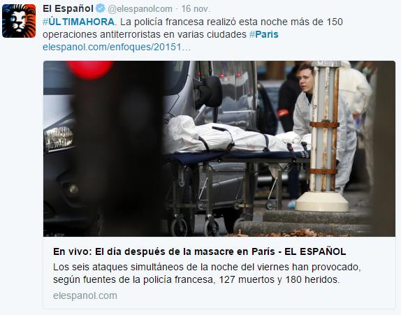 Tragedia en París - Twitter - Investigación