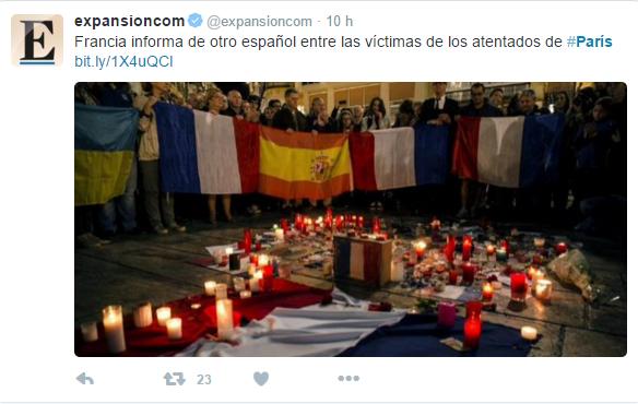 Tragedia en París - Twitter - Muerto español