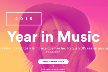 Spotify lanza Year In Music para recordar lo escuchado en 2015
