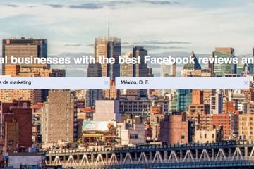Facebook Services, una nueva funcionalidad para encontrar comercios locales