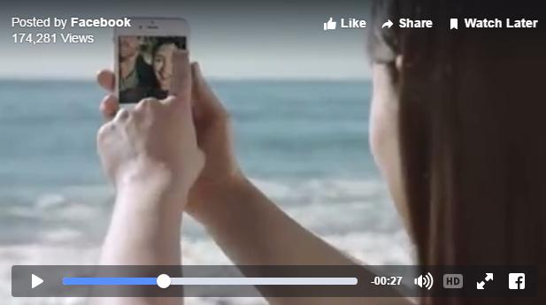 Ejemplo de la función de Facebook Live Video para todos.