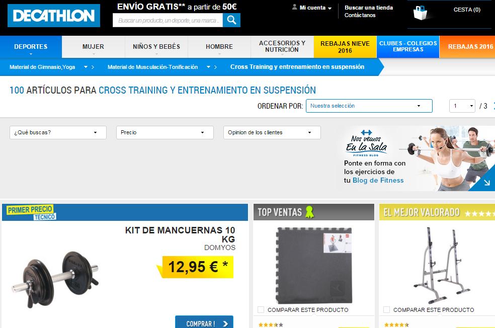 9205bb265 Comprar en Decathlon online  opiniones