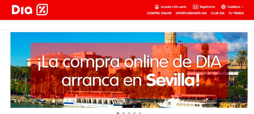 El supermercado DIA lanza su tienda online en Sevilla, Córdoba y Cádiz
