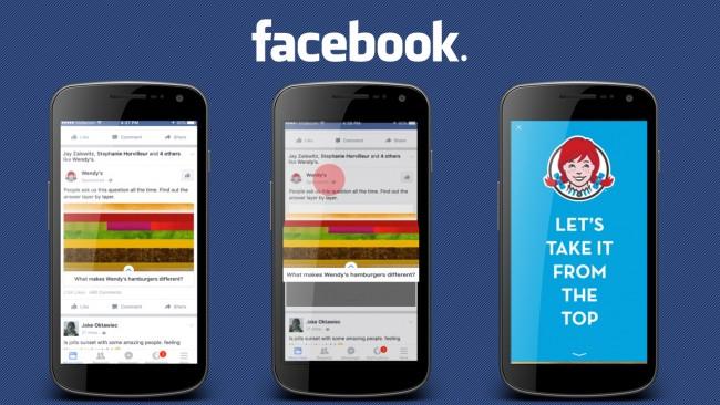 Arte del nuevo tipo de anuncios de Facebook, los Canvas Ads