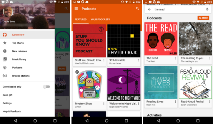 podcasts google play music