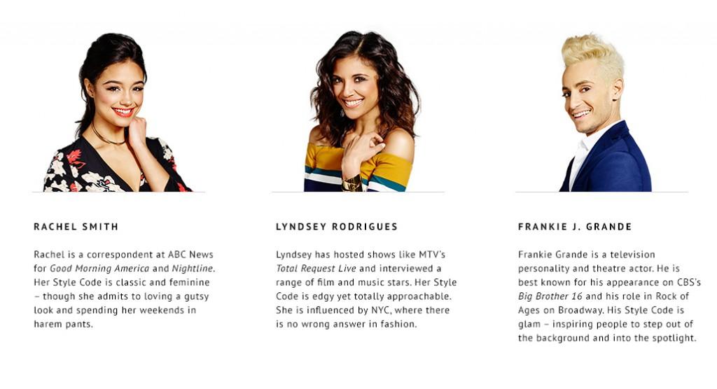 Rachel Smith, Lyndsey Rodrigues y Frankie J. Grande son los protagonistas de Style Code Live