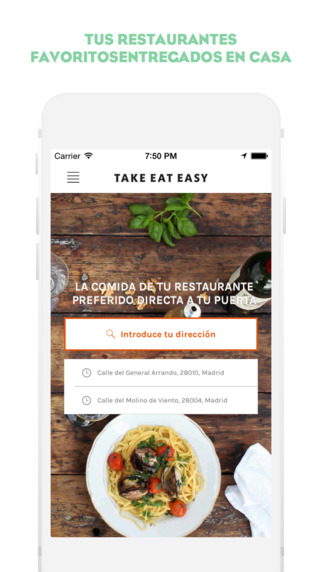 Take Eat Easy app