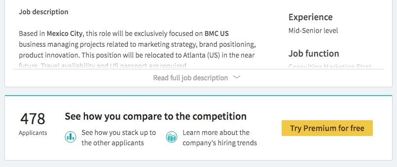"""La búsqueda de empleos en LinkedIn se vuelve más """"inteligente"""" y la red social te invita a compararte ante otros usuarios."""