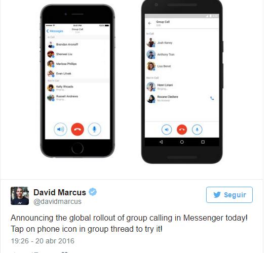 llamadas grupales Facebook Messenger