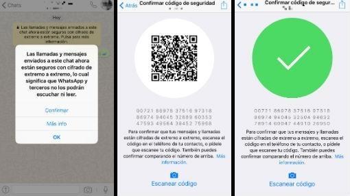 Procesos para el cifrado end-to-end en los chats de WhatsApp
