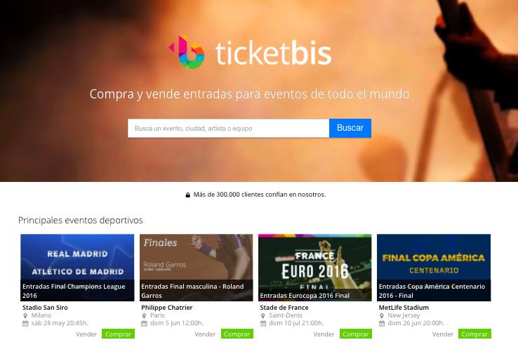 eBay adquiere la plataforma de venta de entradas online Ticketbis a través de StubHub