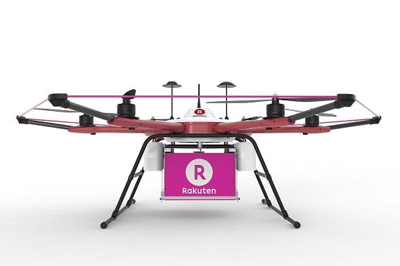 drones repartidores de rakuten