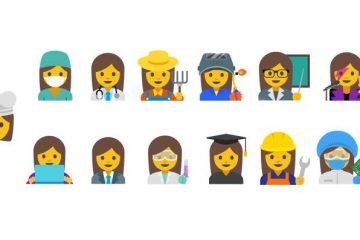 emojis femeninos de Google