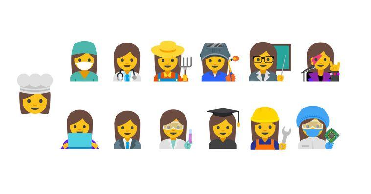 emojis femeninos de Google 1