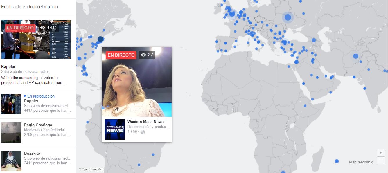 mapa de facebook live