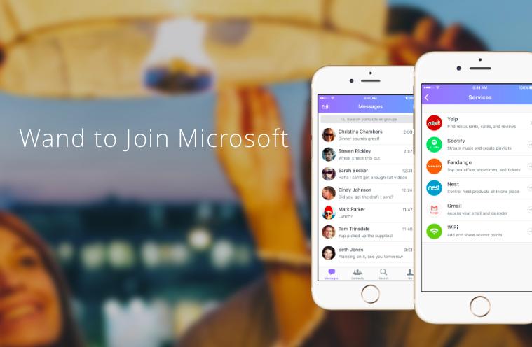 Microsoft compra Wand Labs, una startup de desarrollo de IA en apps de mensajería