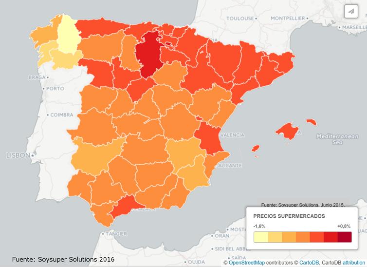 Precios online de los supermercados en España