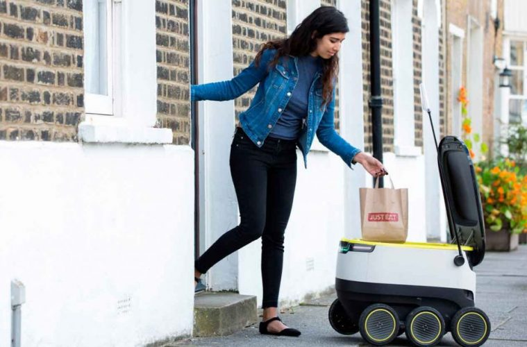 Just Eat y Starship Technologies entrega con robots autónomos