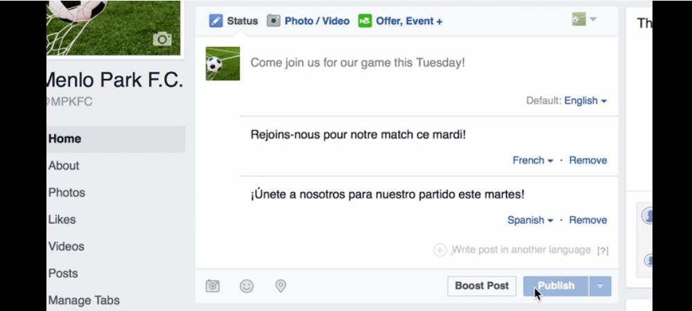 Traductor automático de Facebook