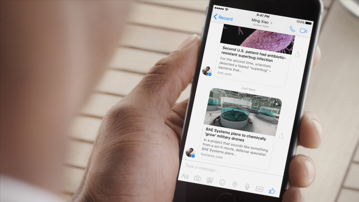 instant articles en messenger