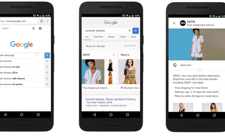 nuevos formatos de google shopping
