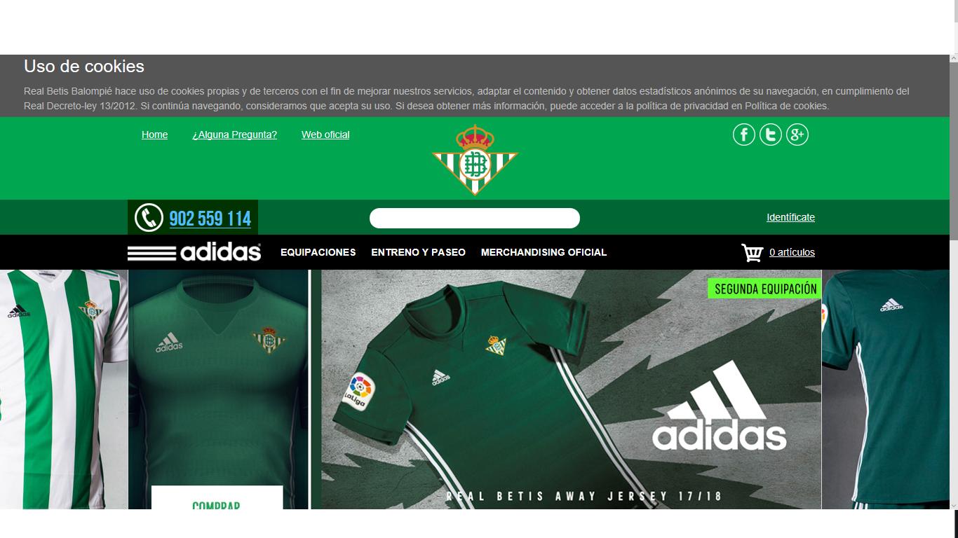 márketing alto látigo  Tienda Online Real Betis Balompié: opiniones y valoración - Marketing 4  Ecommerce - Tu revista de marketing online para e-commerce