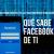 qué sabe facebook de ti