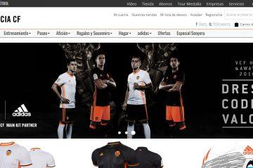 tienda online del Valencia CF