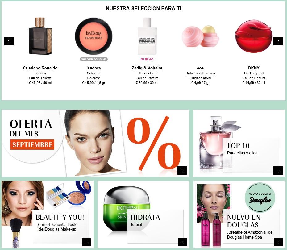 Perfumerías Douglas tienda online