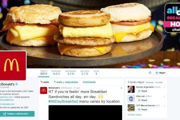 Perfil de Twitter de McDonalds