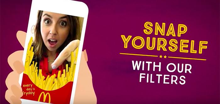 Filtros Snapchat McDonalds